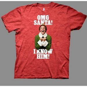 Elf Men's OMG Santa I Know Him Short Sleeve Tee